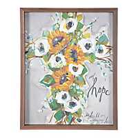 Fall Floral Cross My Hope Framed Art Print