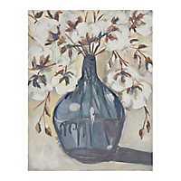 Cotton in Blue Glass Canvas Art Print