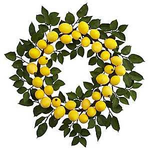 Lemon and Leaf Wreath
