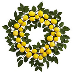 Lemon and Leaf Wreath
