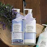 Olivia Grace Spa Purple Lavender Hand Care Caddy