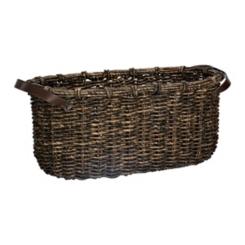Dark Woven Oval Basket