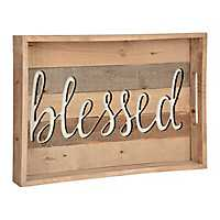 Carved Blessed Wood Tray
