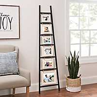 White and Black Ladder Leaner Collage Frame