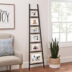 White and Black Ladder Leaner Collage Frame