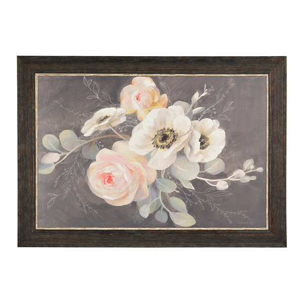 Roses And Anemones Framed Art Print