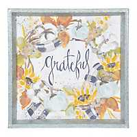 Grateful Fall Wreath Framed Art Print