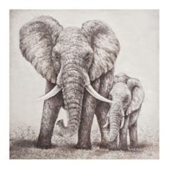 Elephant Pair Canvas Art Print