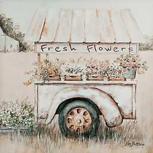 Flower Cart Canvas Art Print