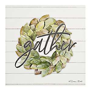 Gather Wreath Canvas Art Print