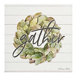 Gather Wreath Canvas Art Print