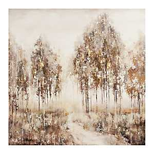 Gold Touched Trees Canvas Art Print