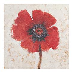 Single Red Stem Canvas Art Print