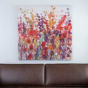 Wildflower Field Canvas Art Print