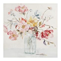 Watercolor Floral Vase Canvas Art Print