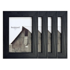 Basic Black 4x6 Picture Frames, Set of 4