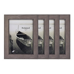 Basic Gray Wash 5x7 Picture Frames, Set of 4