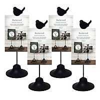 Photo with Bird Black 4x6 Frame Stand, Set of 4