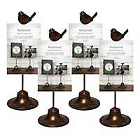 Photo with Bird Bronze 4x6 Frame Stand, Set of 4