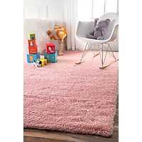 Pink Iliza Shag Area Rug, 5x8