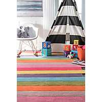 Colorful Block Area Rug, 5x8