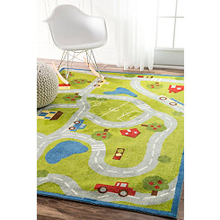 Roadmap Area Rug, 5x8
