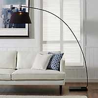 Black Flex Arch Floor Lamp