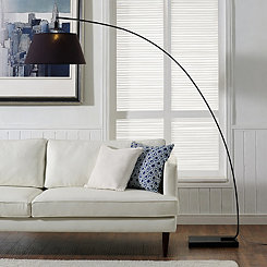 Black Flex Arch Floor Lamp