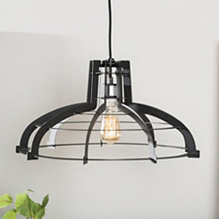 Black Geometric Edge Pendant Light