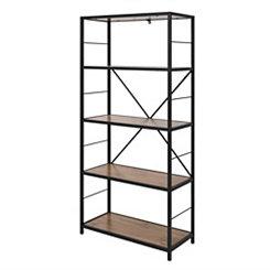 Rustic Metal and Barnwood Bookshelf