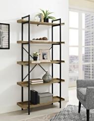 Urban Pipe 5-Tier X-Framed Bookshelf