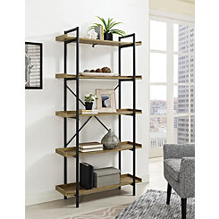 Urban Pipe 5-Tier X-Framed Bookshelf