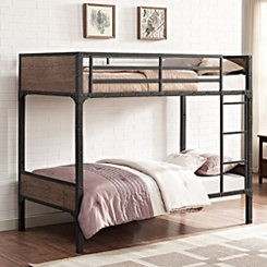 Metal Turn Pipe Twin Bunk Bed