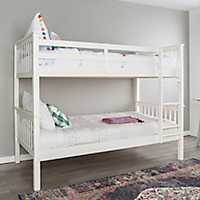 White Mission Designed Twin Bunk Bed