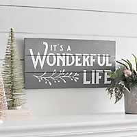 It's a Wonderful Life Christmas Plaque