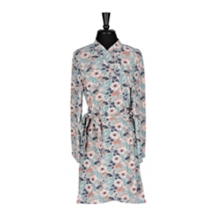 Fall Floral Suede Women's Robe, L/XL