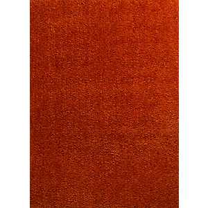 Citrire Orange Columbia Shag Area Rug, 5x7