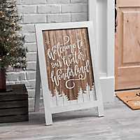 Winter Wonderland Porch Easel