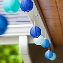Blue Sphere Solar String Lights