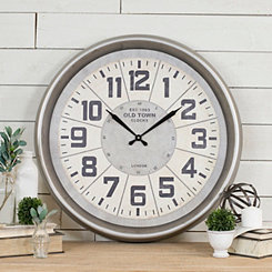 Old Town Metal Wall Clock