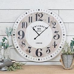 Vintage Antiques Wood Wall Clock