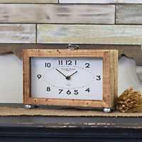 Retro Urban Wood Tabletop Clock