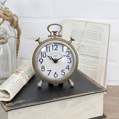 Brooks Antique Metal Tabletop Clock