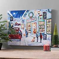 Pre-Lit Toy Store Wonderland Canvas Art Print