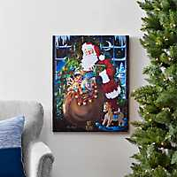 Pre-Lit Twas The Night Santa Canvas Art Print