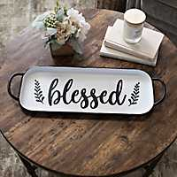 Black and White Blessed Tray