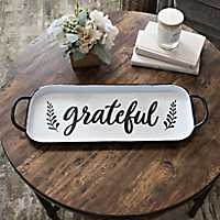 Black and White Grateful Tray