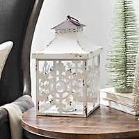 White Metal Snowflake Lantern