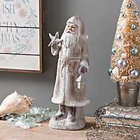 Coastal Christmas Santa Statue