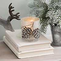 Pine Cone Christmas Votive Holder